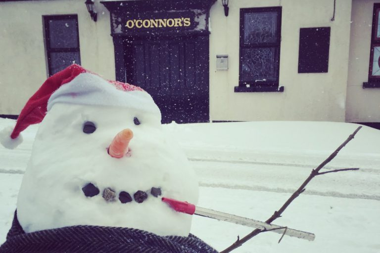"""The Whistling Snowman"". Winter 2018 at Gus O'Connor's"