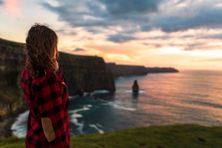 Gus O'Connor's Pub Doolin co. Clare - Irish Traditional Music Pub on Ireland's Wild Atlantic Way Cliffs of Moher Sunset