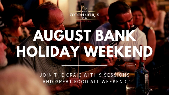 Gus O'Connor's Pub - August Bank Holiday Weekend - Irish Traditional Music Pub in Doolin, Co. Clare